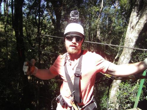 Konradin posiert über den Wipfeln des Tsitsikamma
